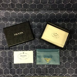 Prada Card Holder in Cobalt  with Verification